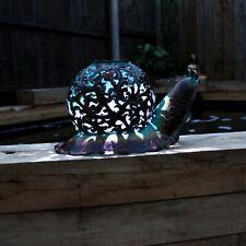 Hand Crafted Metal Solar Snail LED Light Decorative Garden Patio Animal Ornament
