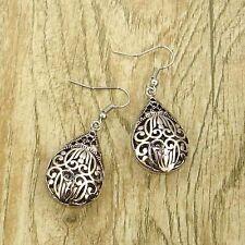 Vintage Tibet Silver Tone Earrings Teardrop Bead Dangle Women Charms Jewelry New