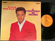 ELVIS PRESLEY - A PORTRAIT IN MUSIC Very rare german only LP Release! EX+