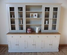 New Solid Pine 7ft Painted Welsh Dresser Dinning Kitchen Unit In Any F B Colour
