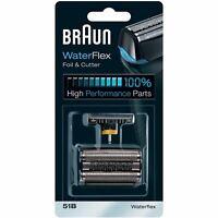 Braun 51B WaterFlex Replacement Foil & Cutter Shaving Head Blades for WF1s, WF2s