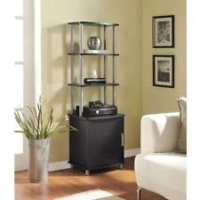 Audio Equipment Stand Media Storage Cabinet AV Stereo Rack Living Room Furniture