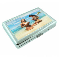 Belize Pin Up Girls D4 Silver Metal Cigarette Case RFID Protection Wallet