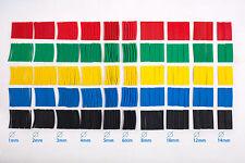 520 Pcs Heat Shrink Tube Sleeve 10 Sizes 5 Colors Polyolefin 2:1 Halogen-Free