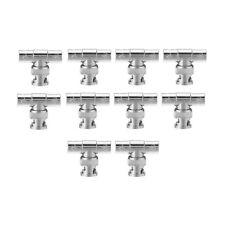 10pcs BNC Tee Adapter Jack Coaxial Splitter Lot For Surveillance Equipment Y5L9