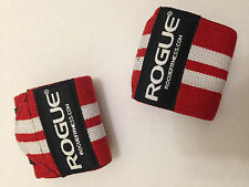 "Rogue Fitness Wrist Wraps, Long 24"", Red, Power/Weight Lifting, Crossfit, WOD"