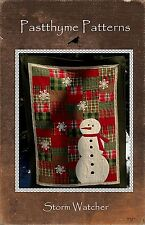 Storm Watcher Applique & Pieced Quilt Pattern ~ Pasttyhyme Patterns ~ Snowman