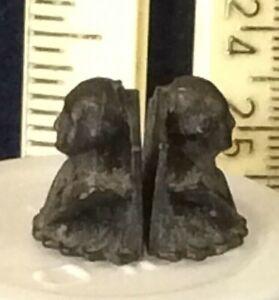 "George Washington, rare 1/2"" mini dollhouse bronzed bookends  (#120)"