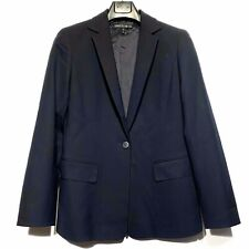 LAFAYETTE 148 New York Womens Work Career Blazer Jacket Navy Blue Size 6