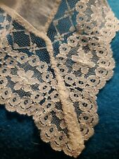 Vintage French Lace Handkerchief Hanky Scalloped 10""