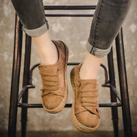 Women Slip On Soft Shoes Suede Lazy Casual Outdoor Sport Flat Oxfords Fashion