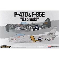 Academy 1/72 P-47D/F-84E Gabreski Plastic Model Kit 12530 ACY12530