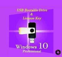 Microsoft Windows 10 Pro USB Flash Drive W/H Activation Key