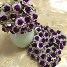 2 TONE PURPLE ROSE MULBERRY PAPER FLOWER HANDMADE FOR CRAFTS SCRAPBOOK CARD 15mm