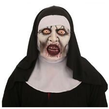SCARY NUN MASK Latex Horror Fancy Dress Prank Horror Habit Halloween Costume