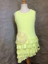 CITRON Dress & JACKET SET 2pc 6 CHIFFON ROSE Ruffles VISCOSE Knit KID CUTE TURE
