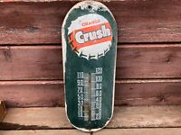 Vintage ORANGE CRUSH Soda Wall Thermometer N101