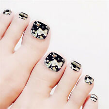 24Pcs False Toe Nails French Toe Nail Tips Acrylic Fake Toe Nails Toe Nail Art