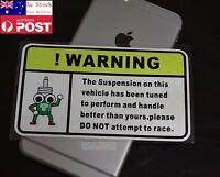 Warning DO NOT Attempt to Race Car Window Rear Glass Sticker 13cm #444