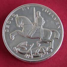 2012 Giubileo di diamante Argento Rivestito Prova Piedfort cavallo a dondolo modello Crown