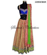Bollywood Designer Indian Pakistani-Multicolor cutwork lehenga set