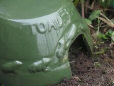 Green Ceramic Glazed Frog House Toad Abode. Pond Wildlife Home.