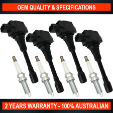 Pack Swan Ignition Coils w/ NGK Spark Plugs for Nissan X-Trail 2007-2014 2.5L