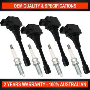 Pack Swan Ignition Coils w/ NGK Spark Plugs for Renault Koleos 2008-2016 2.5L