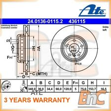 1x GENUINE ATE HEAVY DUTY FRONT BRAKE DISC FOR BMW