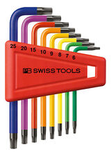 PB Swiss Tools PB 410.H 6-25 RB Torx Key Set Rainbow T6-T25 8-Piece