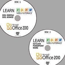 Microsoft Büro 2010 einfache Video Tutorial Training PC DVD Word PowerPoint usw