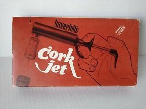 Original Haverhills Wine Bottle Cork Jet San Francisco Calif. W/ Box And Manual