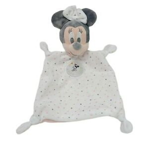 Disney Minnie Mouse Lovey Security Blanket Plush Soft Toy Washed Clean 2019
