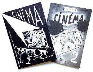 CINÉMA 1 et 2 de FRANCOIS AVRIL - Edition Originale Numérotée.