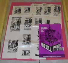 original BIG DOLL HOUSE PRESSBOOK & THE BIG BIRD CAGE AD MATS lot