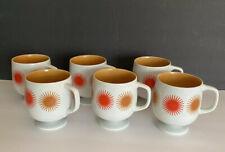 New listing 1967 Vintage Pedestal Orange Starburst Mug Holt Howard - Mid-Century Footed