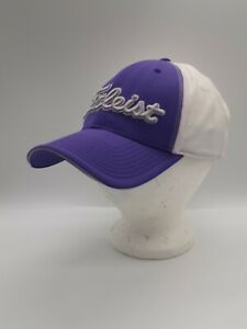 Titleist Golf Purple/White Embroidered Hat Cap Stretch Fit Spandex Size S/M
