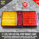 NEW 72 LED Tail Stop Brake Light 12V/24 Waterproof Boat Trailer Caravan Bar