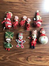 Vintage Christmas Ornaments Lot Japan