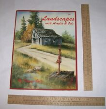 Landscapes with Acrylic & Oils - Donna Bell - Susan Scheewe Publications - pb