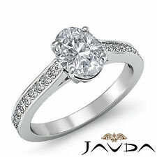 Glistening Oval Diamond Classic Engagement Ring GIA G SI1 14k White Gold 1.25 ct