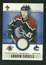 ANDREW CASSELS 02 PACIFIC PRIVATE STOCK GAME WORN JERSEY VANCOUVER CANUCKS