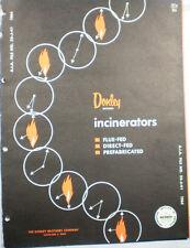 DONLEY Brothers Incinerators Catalog ASBESTOS Roof Block Insulation 1964