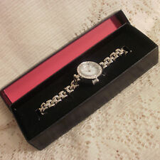 AVON NATALEE SILVER TONE WATCH ~ NEW IN BOX ~ 20cm