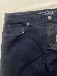 Banana Republic 33 x 32 The Traveler Slim Rinse Flex Denim Jeans