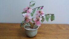 Glass Cherry Blossom Branch in Ceramic Pot