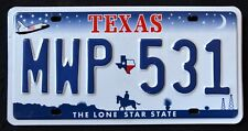 """TEXAS """" LONE STAR COWBOY SHUTTLE """" DISCONTINUED TX Vintage Graphic License Plate"""
