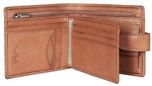 Tony Perotti Mens RFID TAB Wallet & coin pocket Premium Italian Leather TAN 1004