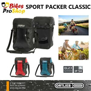 ORTLIEB Sport Packer CLASSIC (Pair) - Bike Panniers Bags WATERPROOF GERMANY 2021