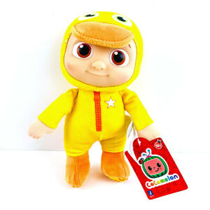 """Cocomelon JJ Duckie 8"""" Yellow Duck PJs Plush Doll Soft Toy - NEW"""